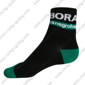 2018 Team BORA hansgrohe Cycling Socks Black Blue