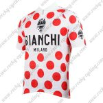 2017 Team BIANCHI Tour de France Cycling Jersey Maillot Shirt Polka Dot