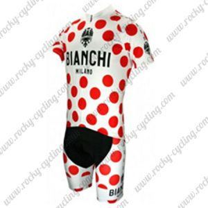 2017 Team BIANCHI Tour de France Cycling Kit Polka Dot