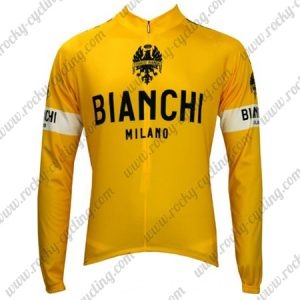 2017 Team BIANCHI Tour de France Yellow Jersey Shirt Long Sleeves
