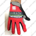 2018 Team BAHRAIN MERIDA Riding Full Finger Gloves Red