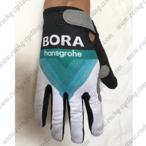 2018 Team BORA hansgrohe Cycling Gloves Full Fingers Black Blue White