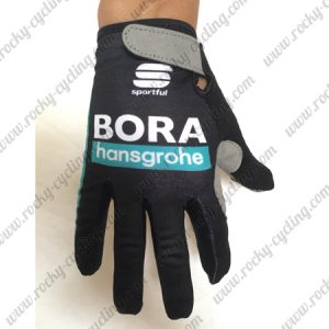 2018 Team BORA hansgrohe Riding Gloves Full Fingers Black Blue