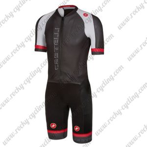 2018 Team Castelli Cycling SkinSuit Black White Red