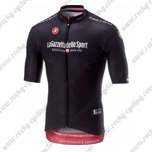 2018 Team Castelli LaGazzettadello Sport Tour de Italia Cycling Jersey Shirt Black