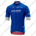 2018 Team Castelli LaGazzettadello Sport Tour de Italia Cycling Jersey Shirt Blue
