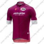 2018 Team Castelli LaGazzettadello Sport Tour de Italia Cycling Jersey Shirt Purple