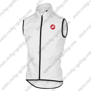 2018 Team Castelli Racing Windbreak Vest White