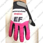2018 Team EF cannondale Cycling Full Finger Gloves White Pink