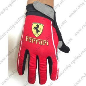 2018 Team Ferari Riding Full Finger Gloves Red
