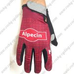 2018 Team KATUSHA Alpecin Riding Full Finger Gloves Red