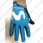 2018 Team Movistar Riding Full Finger Gloves Blue