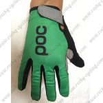 2018 Team Pro Cycling Gloves Full Finger Green