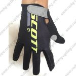 2018 Team SCOTT Cycling Gloves Full Finger Black Yellow Grey
