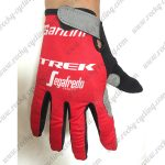 2018 Team TREK Segafredo Riding Full Finger Gloves Red