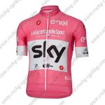 2018 Team SKY Castelli LaGazzettadello Sport enel Cycling Jersey Shirt Pink White