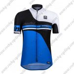 2017 Team Santini airform Cycling Jersey Maillot Shirt Blue Black