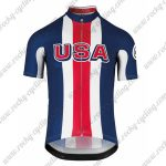 2018 Team ASSOS USA Cycling Jersey Shirt Blue Red