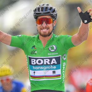 2018 Team BORA hansgrohe Tour de France Cycling Jersey Shirt Green