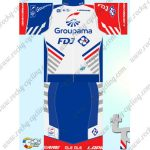 2018 Team Groupama FDJ Cycling Kit White Blue Red