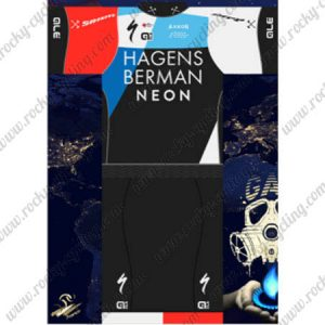 2018 Team HAGENS BERMAN NEON Cycling Kit Black Blue Red
