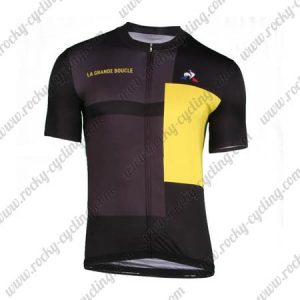 2018 Team LA GRANDE BOUCLE Cycling Jersey Shirt Black Yellow