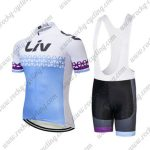 2018 Team LIV Women Cycling Bib Kit Blue White