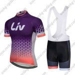 2018 Team LIV Women Cycling Bib Kit Purple Pink