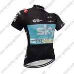 2018 Team SKY Castelli Cycling Jersey Riding Shirt Black Blue