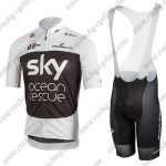 2018 Team SKY Castelli Ocean rescue Riding Bib Kit White Black