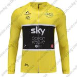 2018 Team SKY Castelli Ocean rescue Tour de France Cycling Long Jersey Yellow
