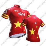 2018 Team SKY China Cycling Jersey Shirt Red Yellow