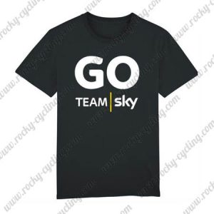 2018 Team SKY Cycling T-SHIRT Round-neck Black