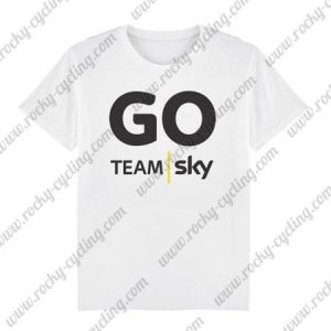 2018 Team SKY Cycling T-SHIRT Round-neck White