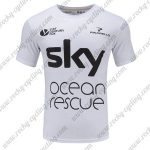 2018 Team SKY Ocean rescue Biking T-SHIRT Round-neck White Black