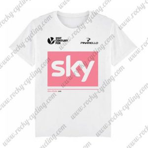 2018 Team SKY Riding T-SHIRT Round-neck White Pink