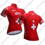 2018 Team SKY Sweden Cycling Jersey Shirt Red Yellow