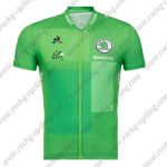 2018 Team Tour de France Cycling Jersey Shirt Green