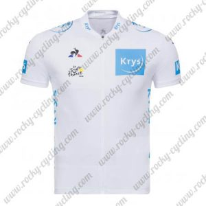 2018 Team Tour de France Krys Cycling Jersey Shirt White