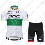 2017 Team BMC Nicolas Roche's Irish champion's Cycling Clothing Riding Kit White Green