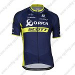 2017 Team ORICA SCOTT Cycling Clothing Riding Jersey Shirt Blue