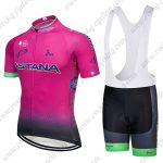 2018 Team ASTANA Cycling Wear Riding Bib Set Pink