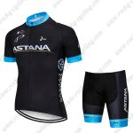 2018 Team ASTANA Cycling Wear Riding Kit Black