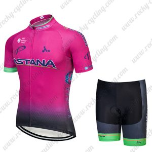 2018 Team ASTANA Riding Outfit Cycle Set Pink