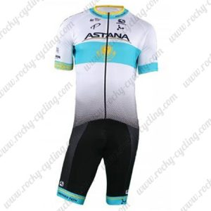 2018 Team ASTANA Riding Outfit Cycle Set White Blue