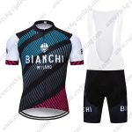 2018 Team BIANCHI MILANO Biking Wear Cycle Bib Kit Blue Black Red