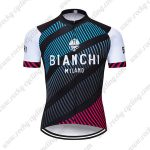 2018 Team BIANCHI MILANO Biking Wear Cycle Jersey Shirt Blue Black Red