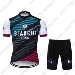 2018 Team BIANCHI MILANO Biking Wear Cycle Kit Blue Black Red