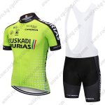2018 Team EUSKADI MURIAS Riding Clothing Cycle Bib Kit Green