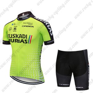 2018 Team EUSKADI MURIAS Riding Clothing Cycle Set Green